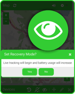 Blipbr gps easyily set recovery mode for real-time tracking